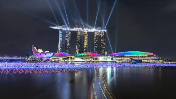 Marina Bay Sands Long Exposure Photography wallpaper