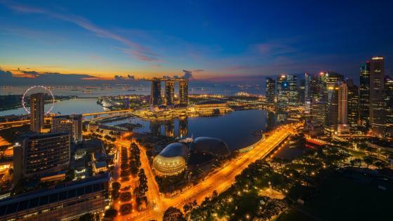 Singapore view wallpaper