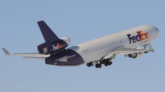 FedEx Express McDonnell Douglas MD-11F at Toronto Pearson International Airport wallpaper