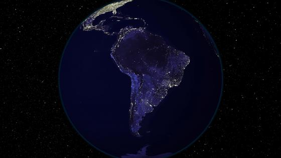 Light and Dark Image Pair: South America (Night) wallpaper