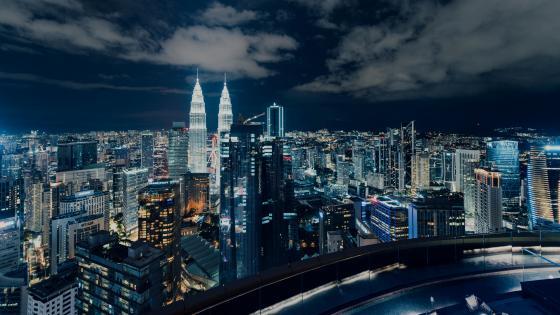 Kuala Lumpur by night, Malaysia wallpaper