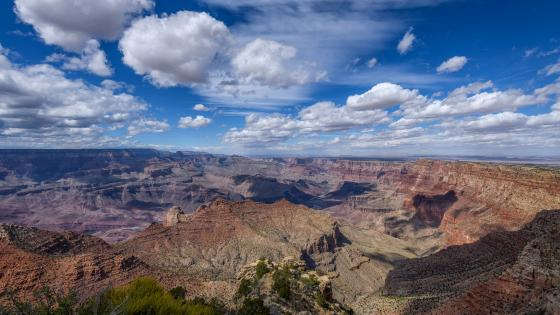 View of the south rim of the Grand Canyon from Navajo Point, Arizona wallpaper