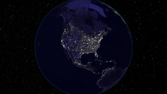 Light and Dark Image Pair: North America (Night) wallpaper