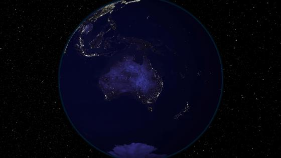 Light and Dark Image Pair: Australia and Oceania (Night) wallpaper