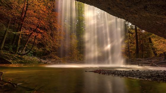 Waterfall In Autumn wallpaper