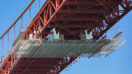 Golden Gate Bridge Suicide Barrier Installation wallpaper