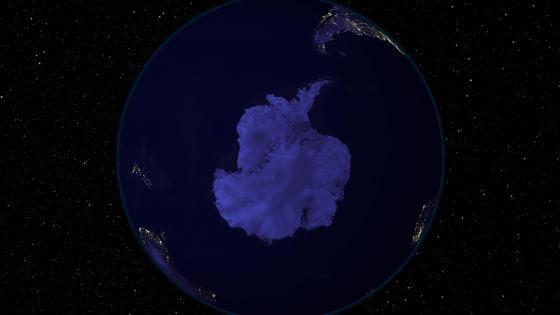Light and Dark Image Pair: South Pole (Night) wallpaper