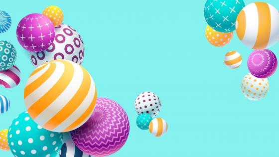 Colorful 3D balls wallpaper