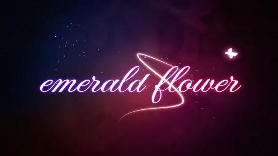 Emelad Flower neon text wallpaper
