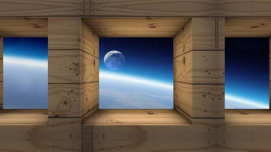 Moon and Earth view wallpaper