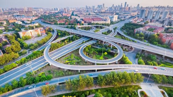 Interchange in Tianjin, China wallpaper
