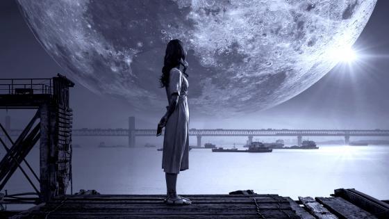 Girl Fantasy Moon wallpaper