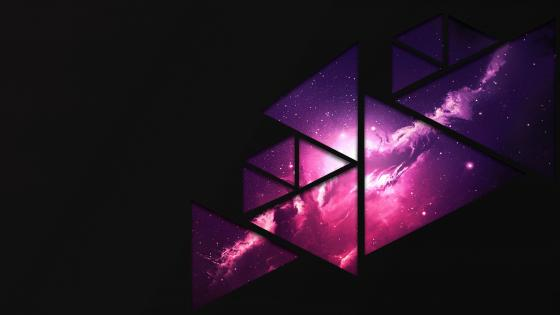 Triangle shape abstract space wallpaper