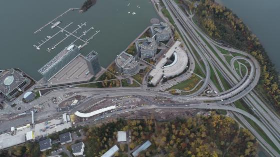 Aerial View of an Interchange in Espoo, Finland wallpaper