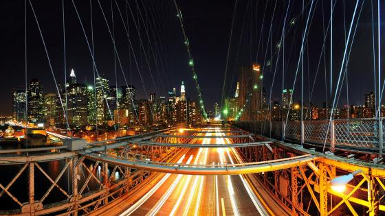 Brooklyn Bridge Long Exposure Photography wallpaper