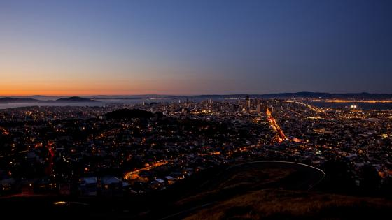 San Francisco night skyline wallpaper