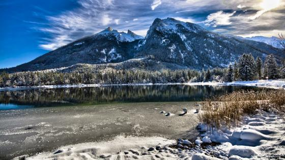 Hintersee winter wallpaper