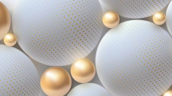 3D golden pearls wallpaper