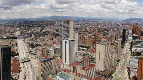 Panoramic of Bogotá, Colombia wallpaper