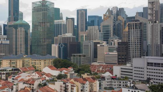 Singapore CBD wallpaper