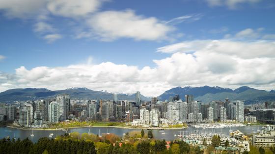 Vancouver Cityscape Panorama wallpaper