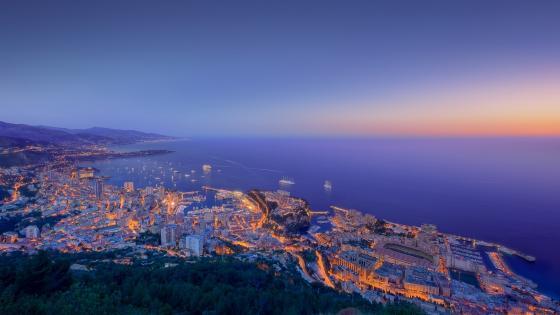 Monaco view wallpaper