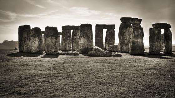 Stonehenge Monochrome photography wallpaper