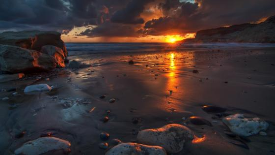 Kourion Beach in Cyprus wallpaper