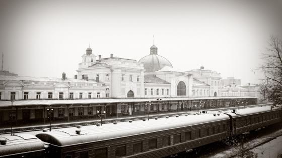 Ivano-Frankivsk Train station wallpaper