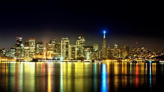 Night light of San Francisco wallpaper