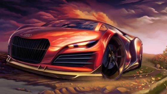 Audi digital painting wallpaper