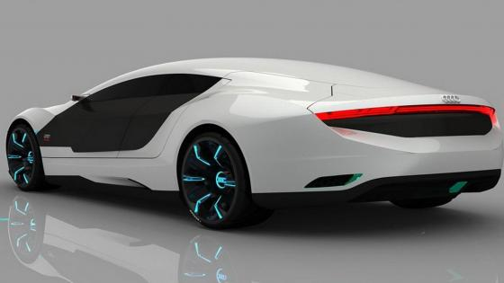 White Audi A9 wallpaper