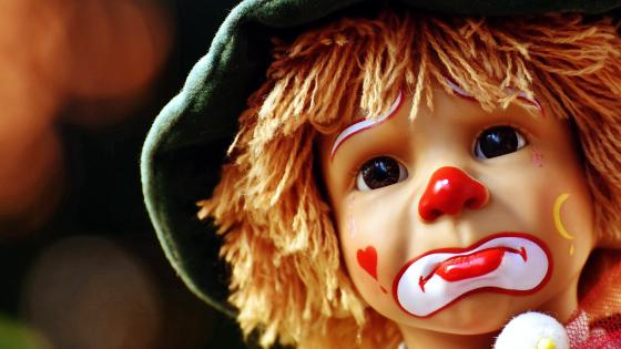 Sad Doll Clown wallpaper