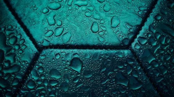 Wet Football wallpaper