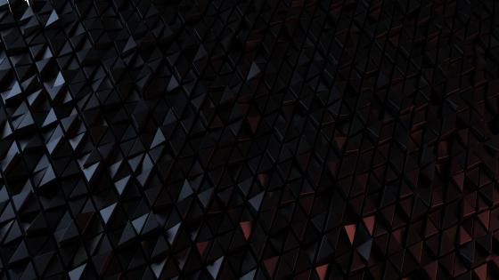 3D black triangles wallpaper
