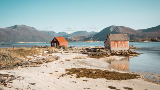 Norwegian landscape wallpaper