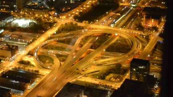 Jane Byrne Interchange at Night wallpaper