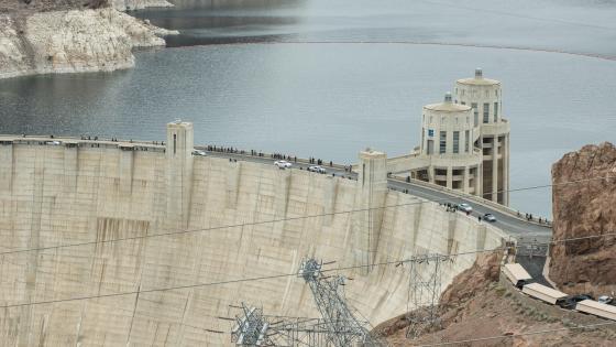 Hoover Dam seen from the Hoover Dam Bypass wallpaper