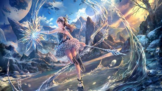Ice skating anime girl wallpaper