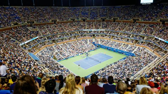 Arthur Ashe Stadium During the 2014 US Open wallpaper