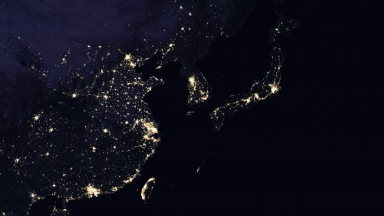 East Asia's Night Lights 2016 wallpaper