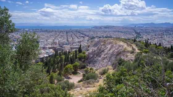 Filopappou Hill in Athens wallpaper