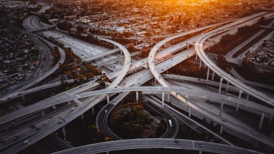Freeway Interchange in LA wallpaper