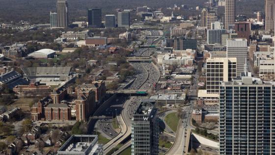 Panoramic View of Atlanta wallpaper