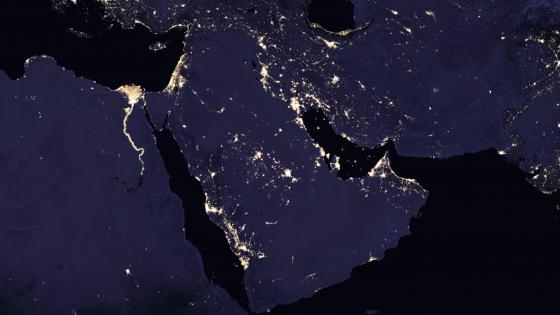 Night Lights of the Arabian Peninsula 2016 wallpaper