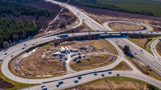 Aerial Photo Highway 91 & Highway 17 Interchange wallpaper