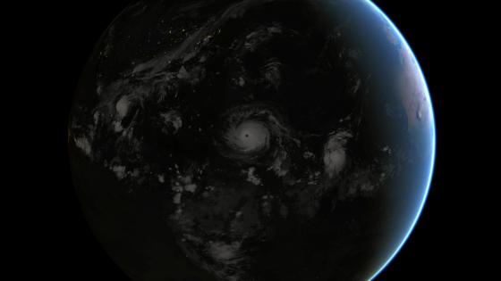 Hurricane Irma at Night wallpaper
