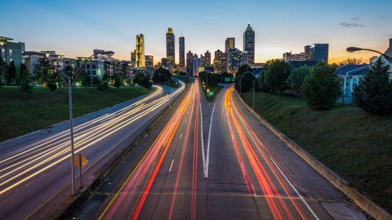 View from the Jackson Street Bridge in Atlanta wallpaper