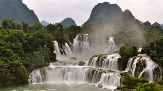 Ban Gioc Waterfall, Vietnam wallpaper