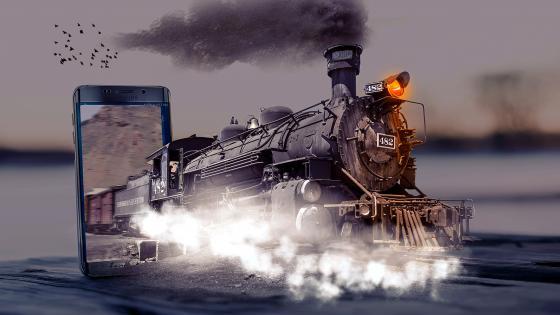 Locomotive photoshop art wallpaper
